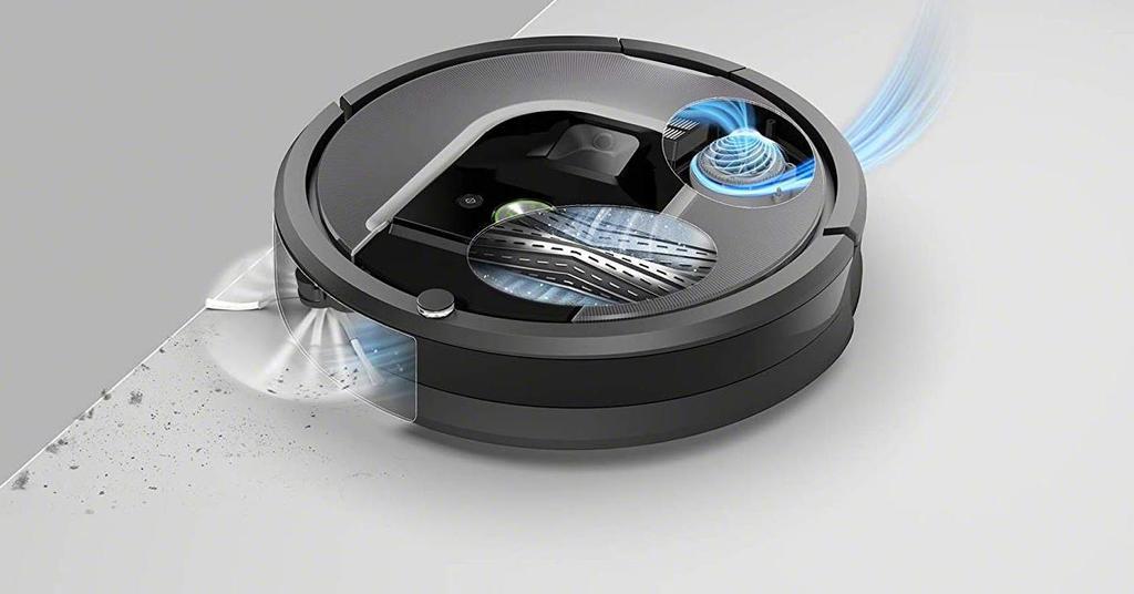 Robot aspirateur Roomba 960 funcionando