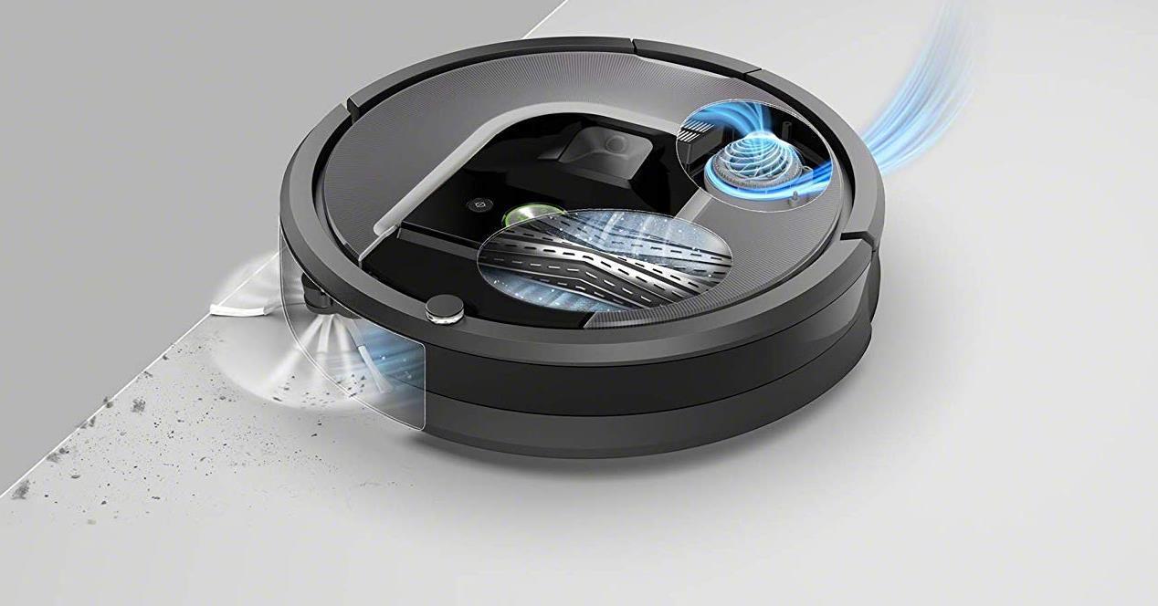Robot aspirador Roomba 960 funcionando