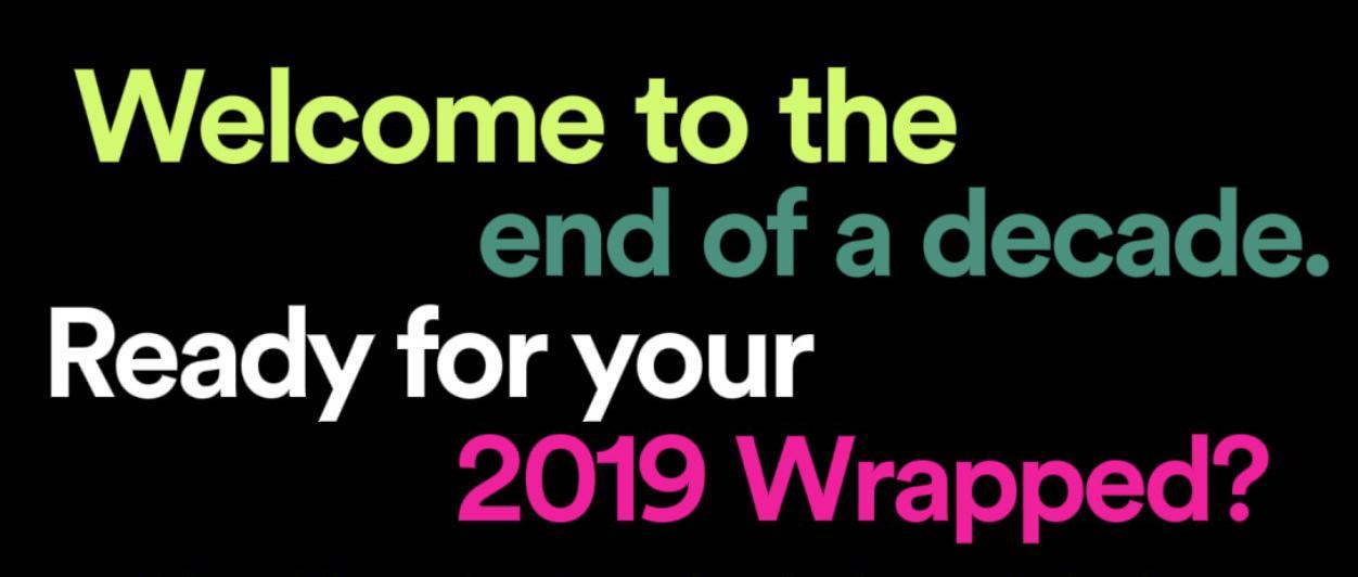 Inicio de Spotify wrapped