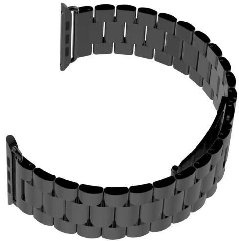 Correa de acero negra para el Apple Watch