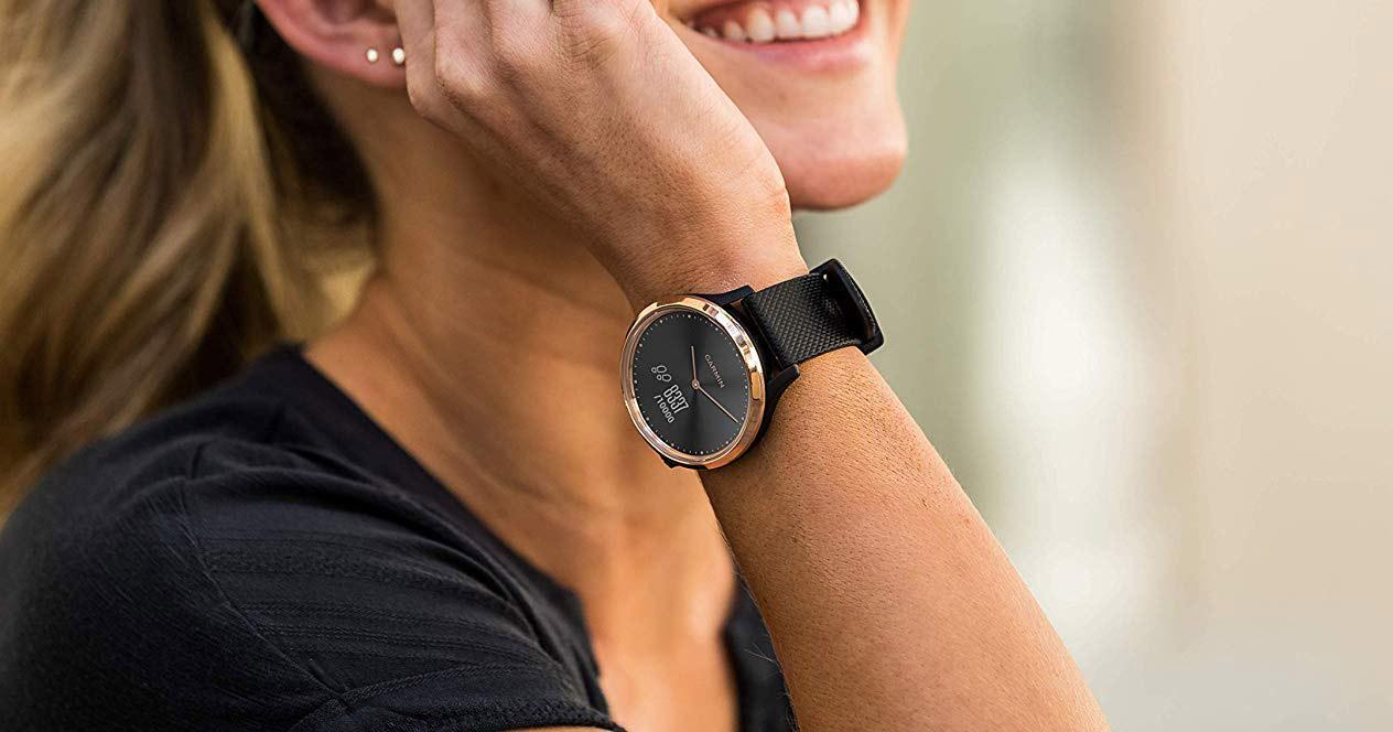 Uso del reloj híbrido Garmin Vívomove HR