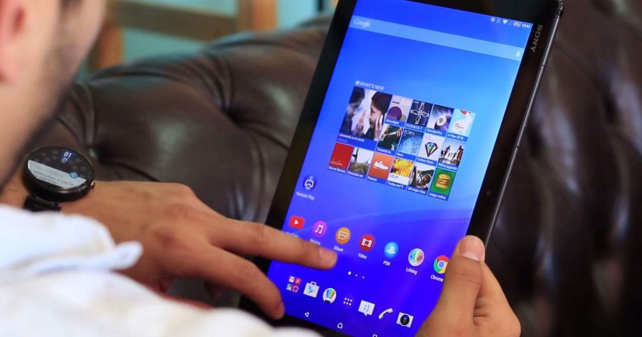 Uso de tablet con sistema operativo Android