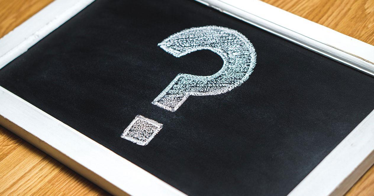 Interrogación pantalla negra