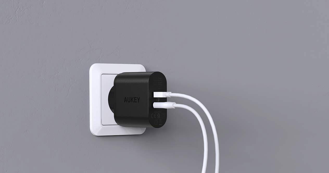 Uso de un cargador rápido de pared
