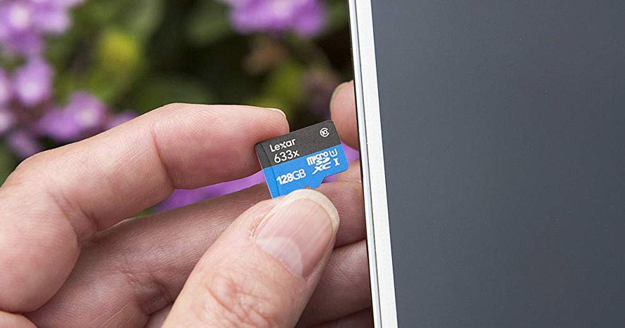 tarjetas microSD en smartphone