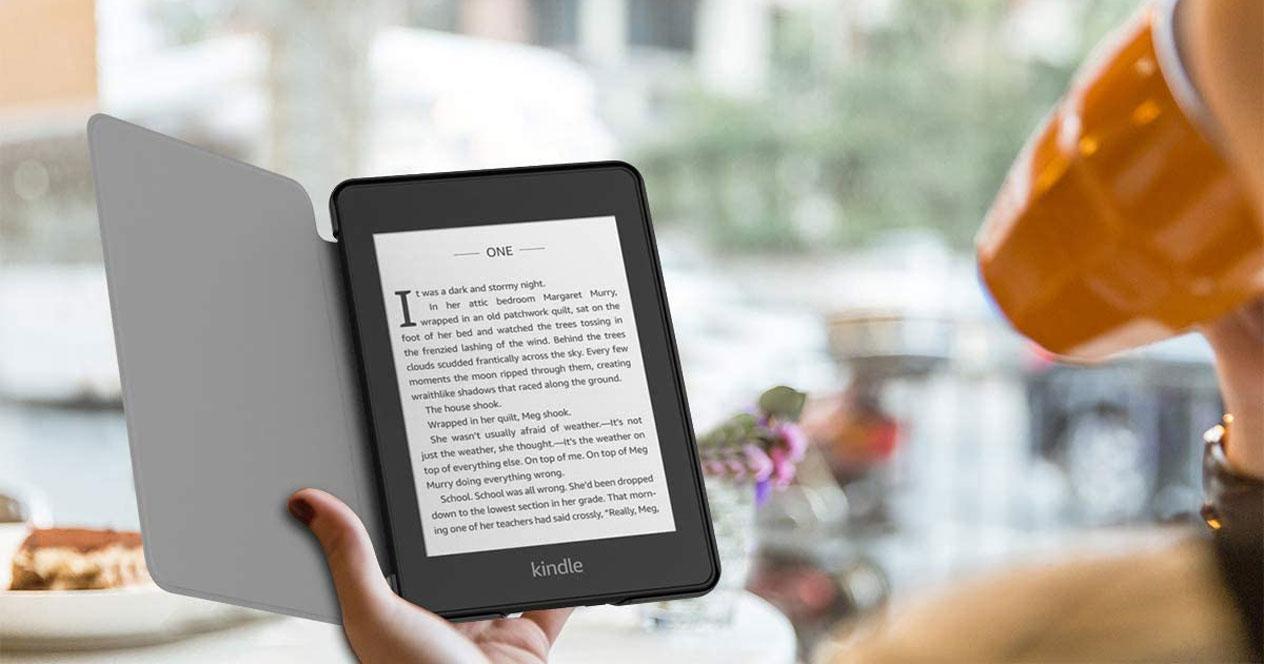 Uso del Kindle Paperwhite con funda