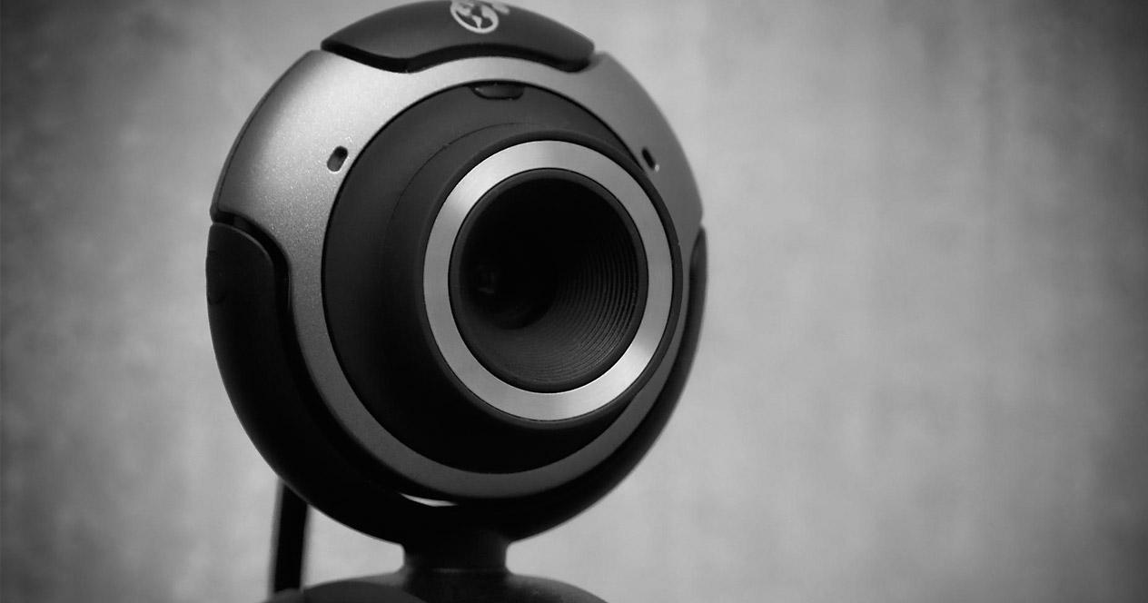 Webcam con fondo gris