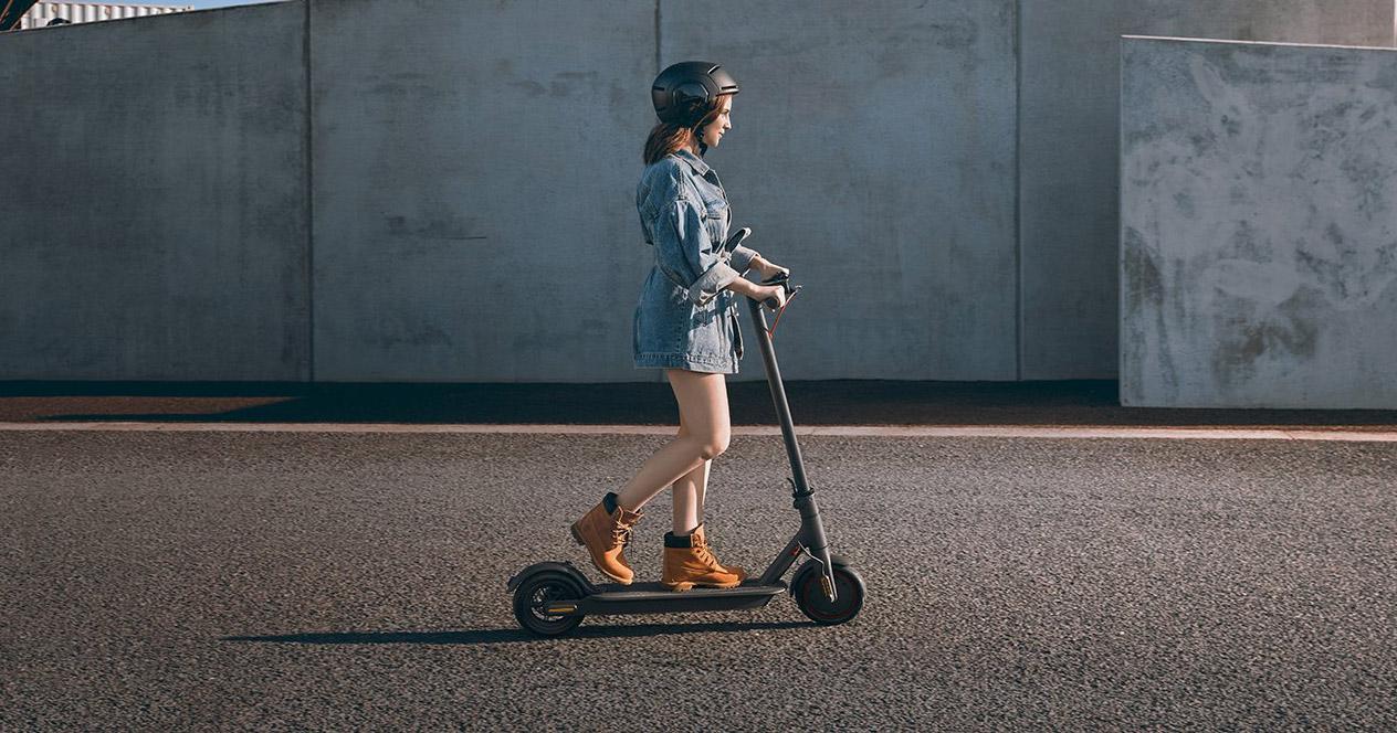 Uso del patinete eléctrico Xiaomi Mi Electric Scooter