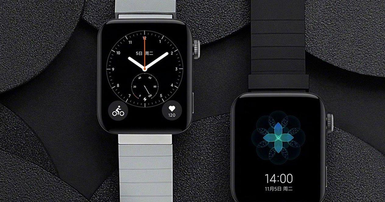 Imagen smartwatch Xiaomi Mi Watch con fondo negro