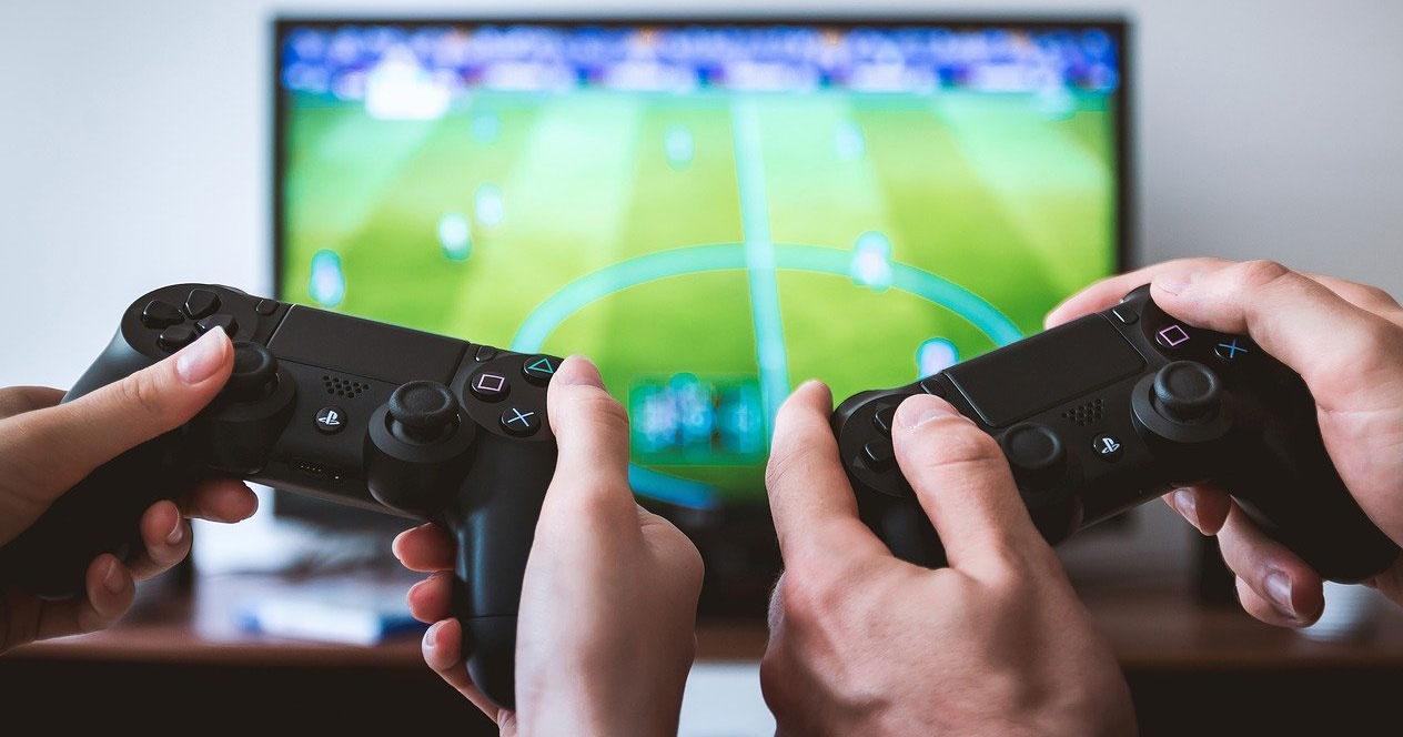 Jugando PS4