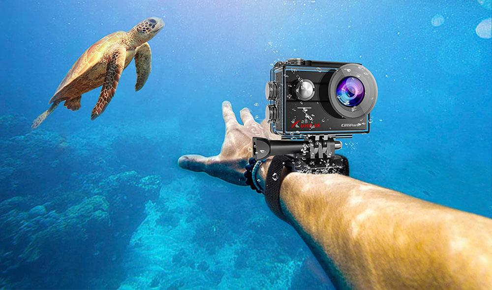 Uso de cámaras deportivas bajo el agua