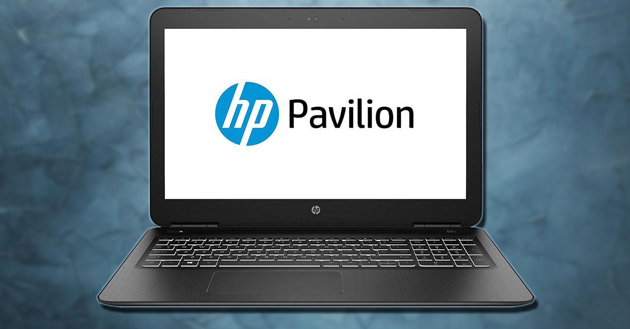 Portátil HP Pavilion 15-bc519ns con fondo azul