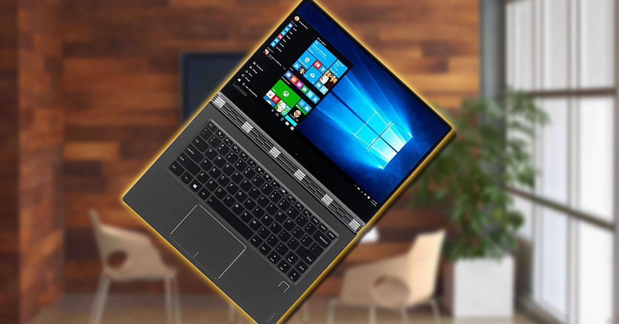 Portátil Lenovo Yoga 910-13IKB con fondo