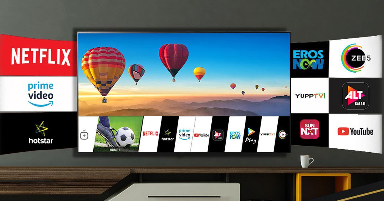 Smart TV de LG en el salón