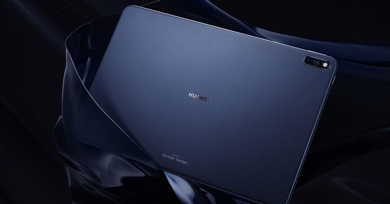 Tablet Huawei MatePad Pro con fondo