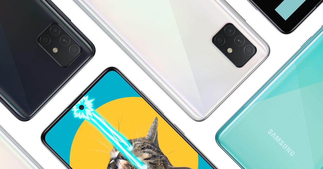 Imagen del Samsung Galaxy A51 con fondo blanco