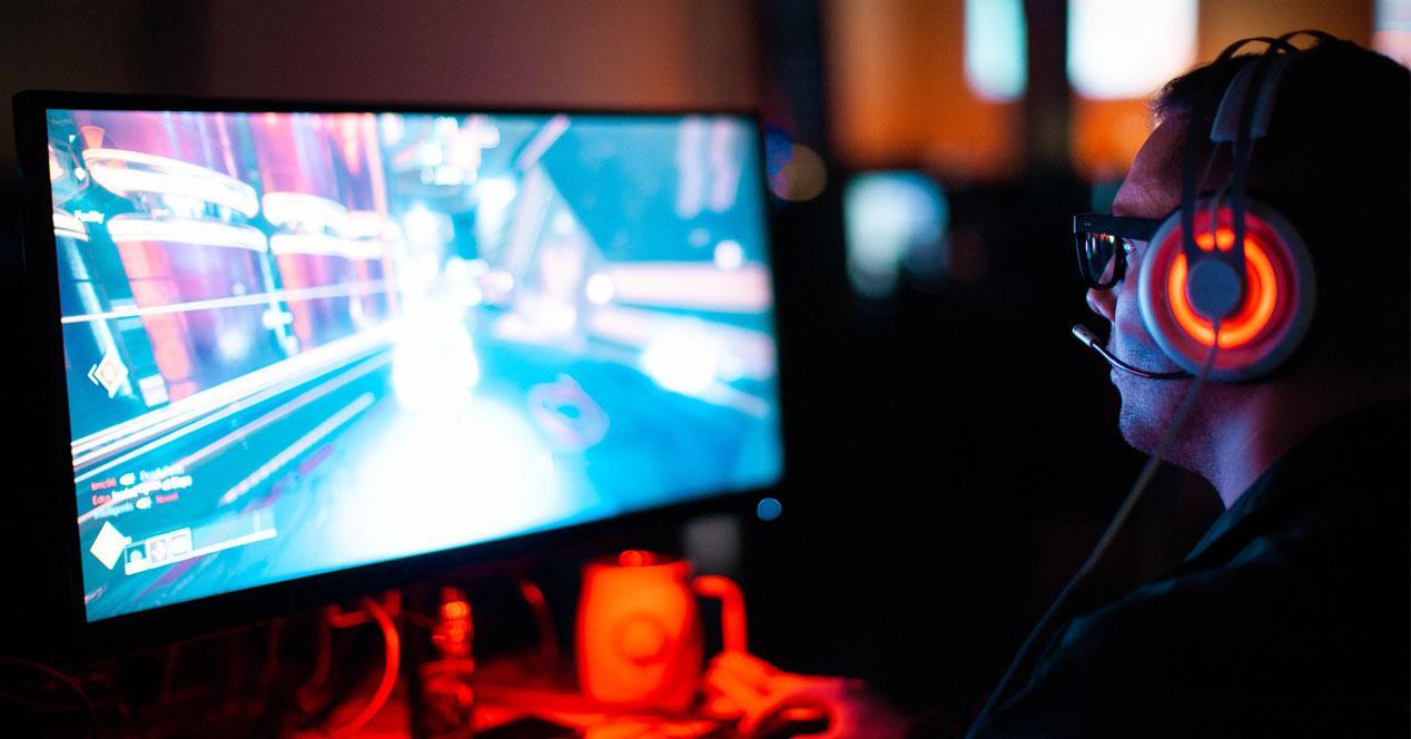 Juego para ordenador en pantalla