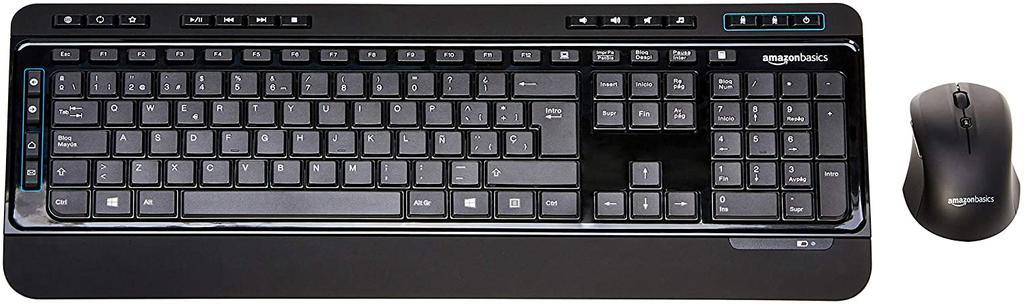 Ratón y teclado inalámbricos AmazonBasics Kit