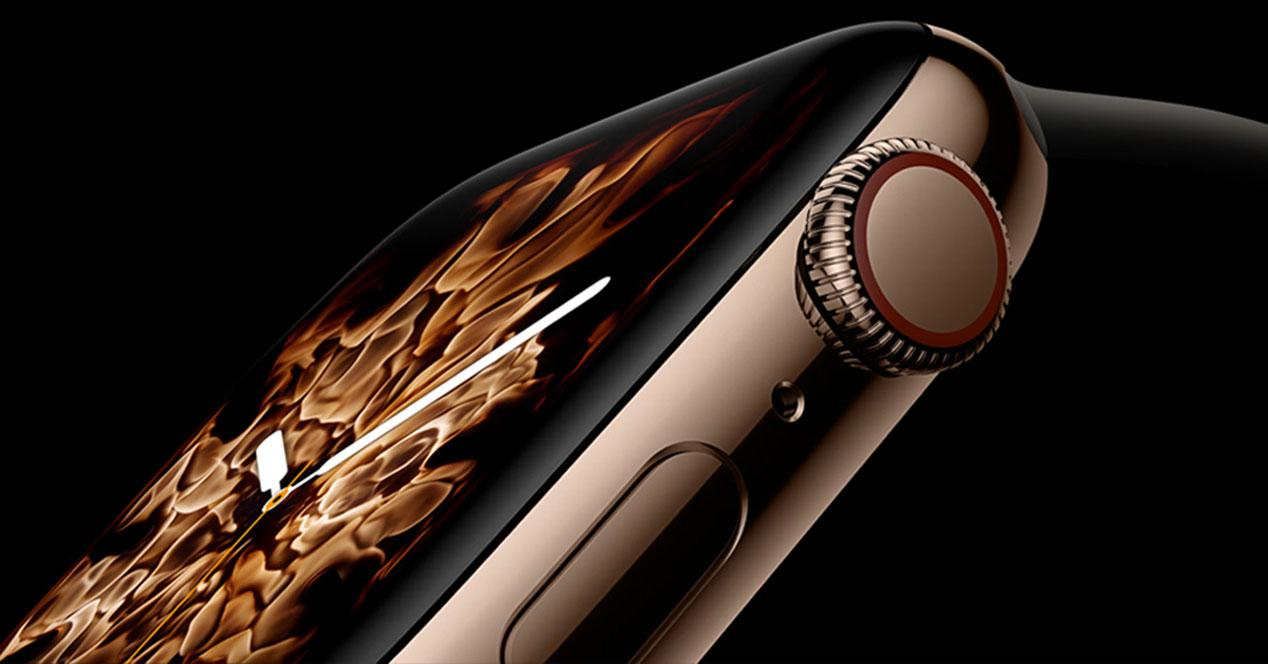 Smartwatch Apple Watch con fondo negro