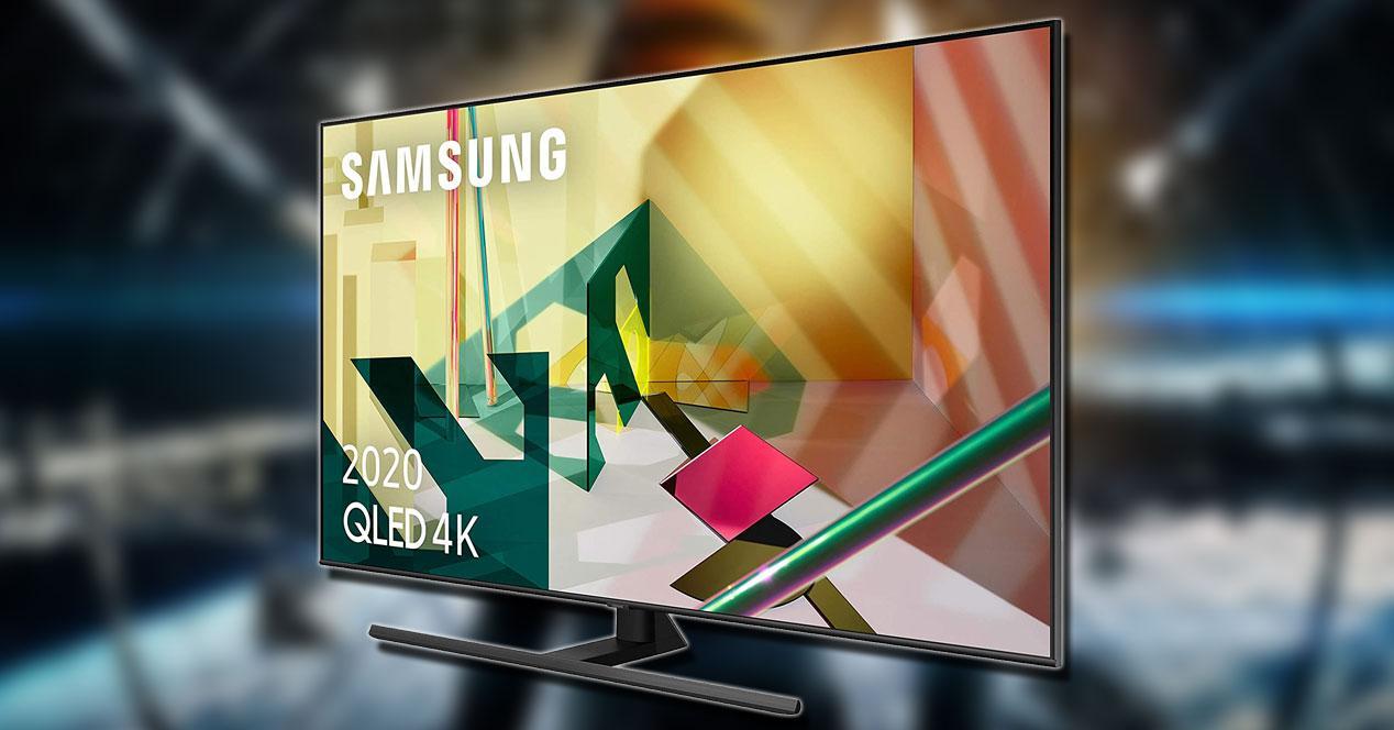 Samsung Q70T de lado