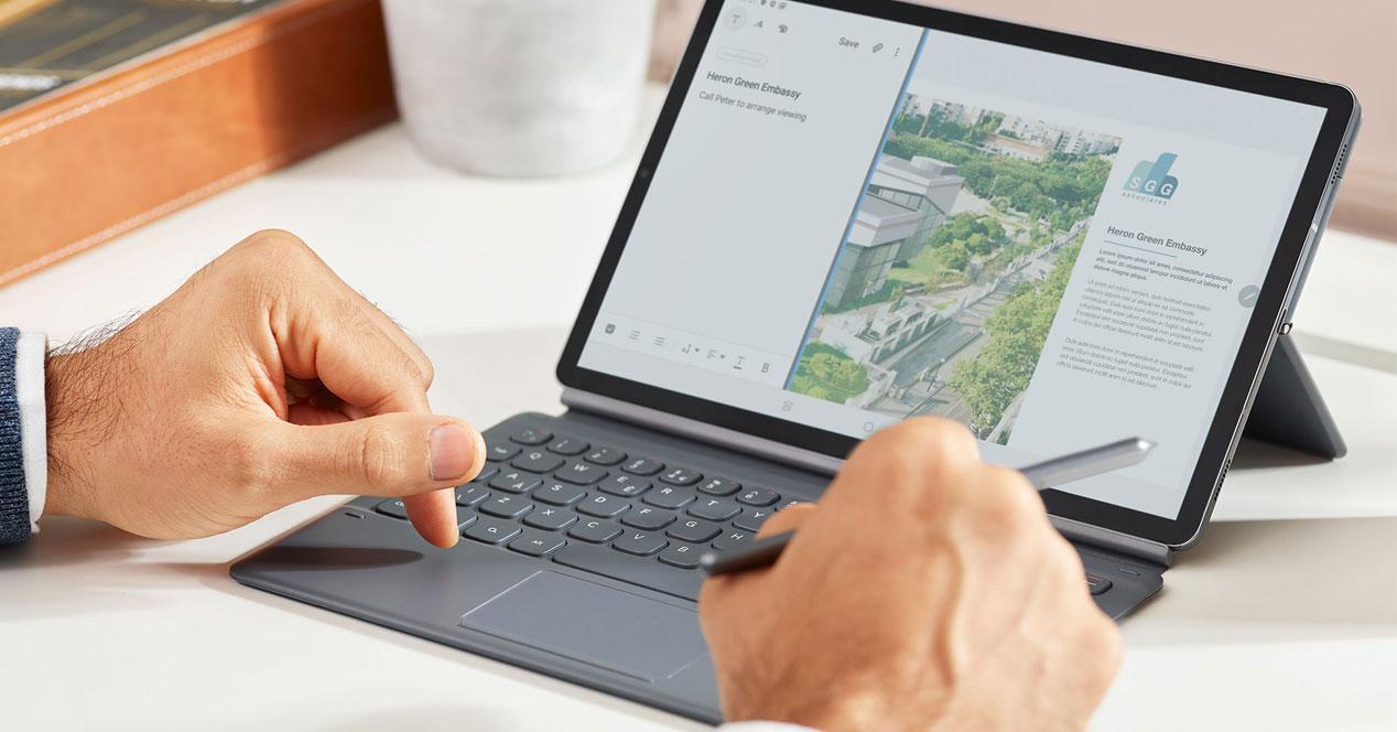 Uso del tablet Samsung Galaxy Tab S6
