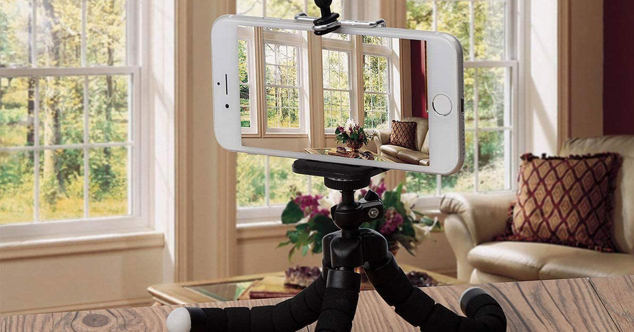 Uso de tripodes para smartphones