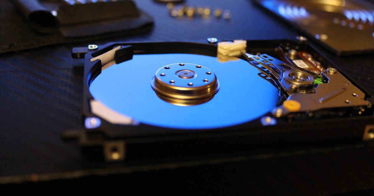 Interior de disco de almacenamiento