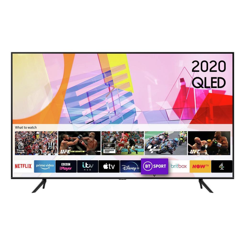 Smart TV Samsung QE55Q60T de frente