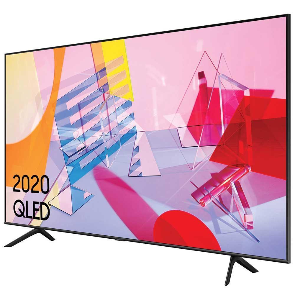 Smart TV Samsung QE55Q60T de lado