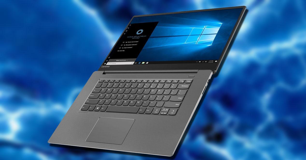 Portátil Lenovo Ideapad 530S-15IKB con fondo