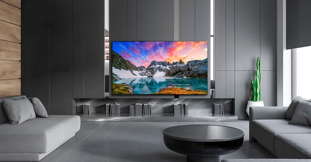 Smart TV LG LG 55NANO806 en la sala de estar