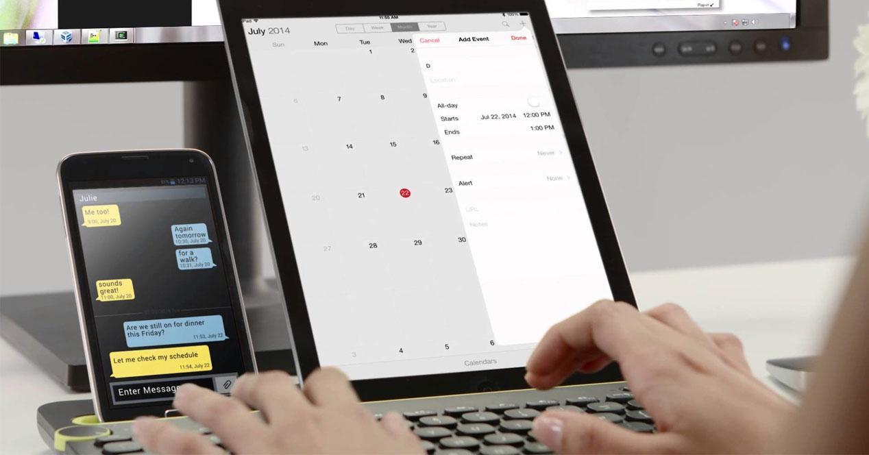 Uso del tablet Logitech K480