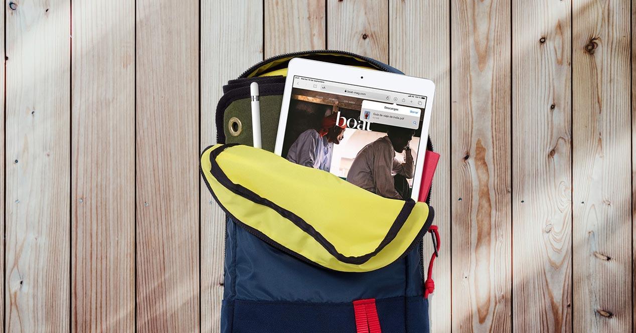 iPad de Apple con fondo