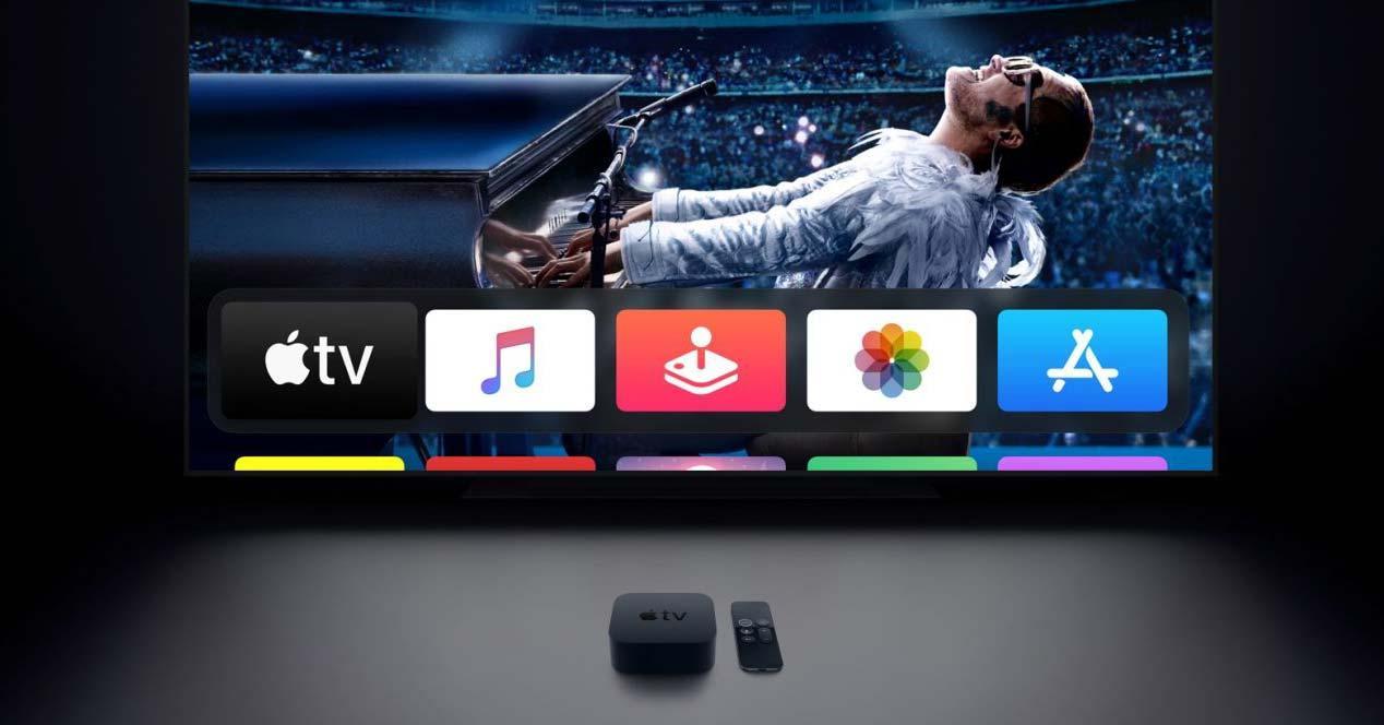 Apple TV de color negro