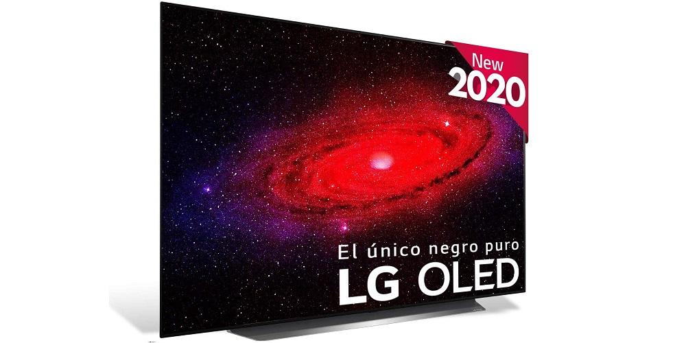 smart TV LG OLED CX de lado