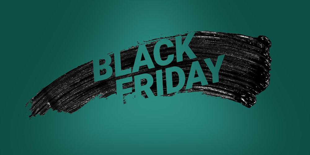 Logo Black Friday fondo verde