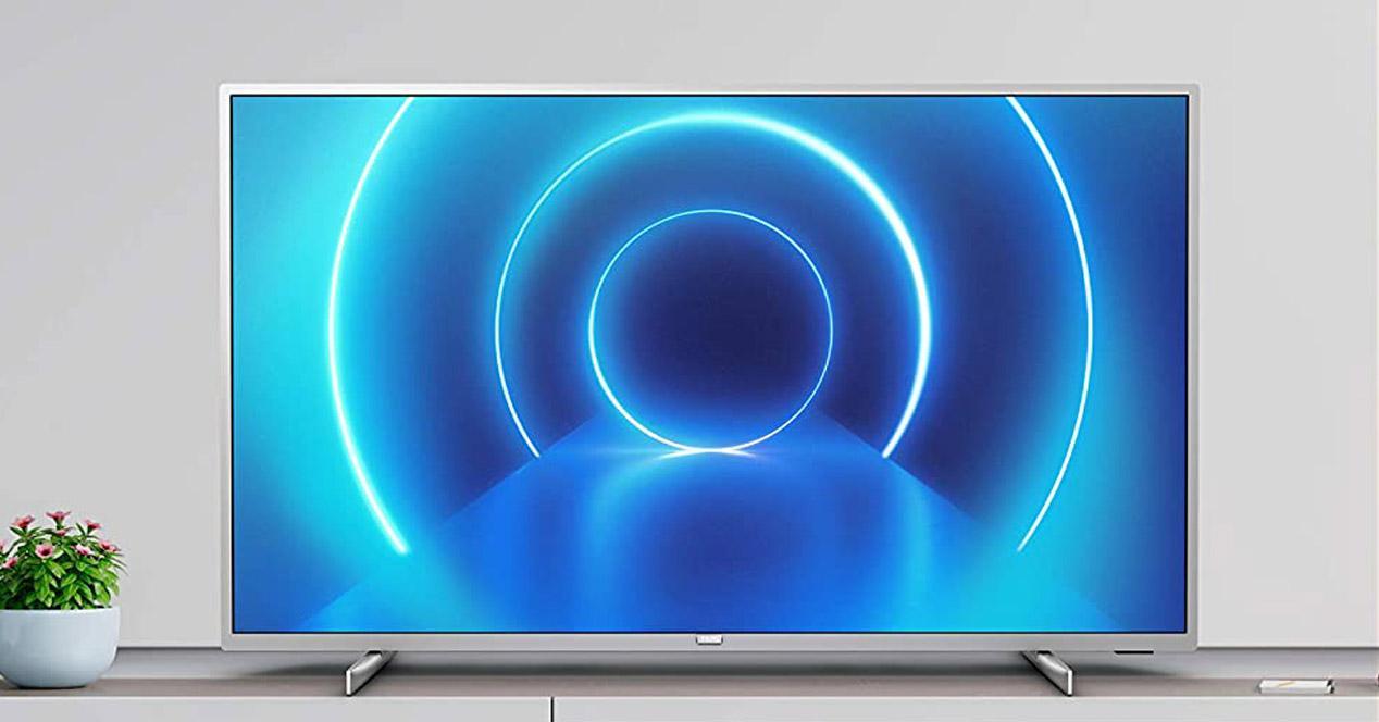 smart tv philips en el salón