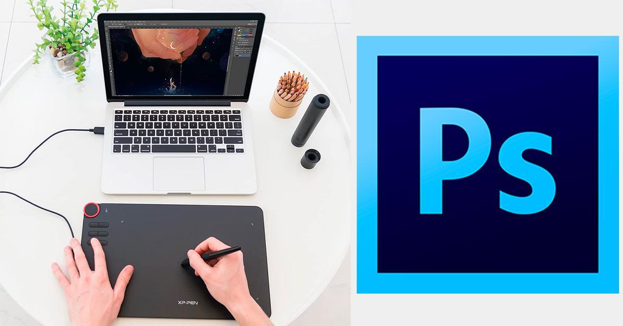 Tableta gráfica para utilizar en Photoshop