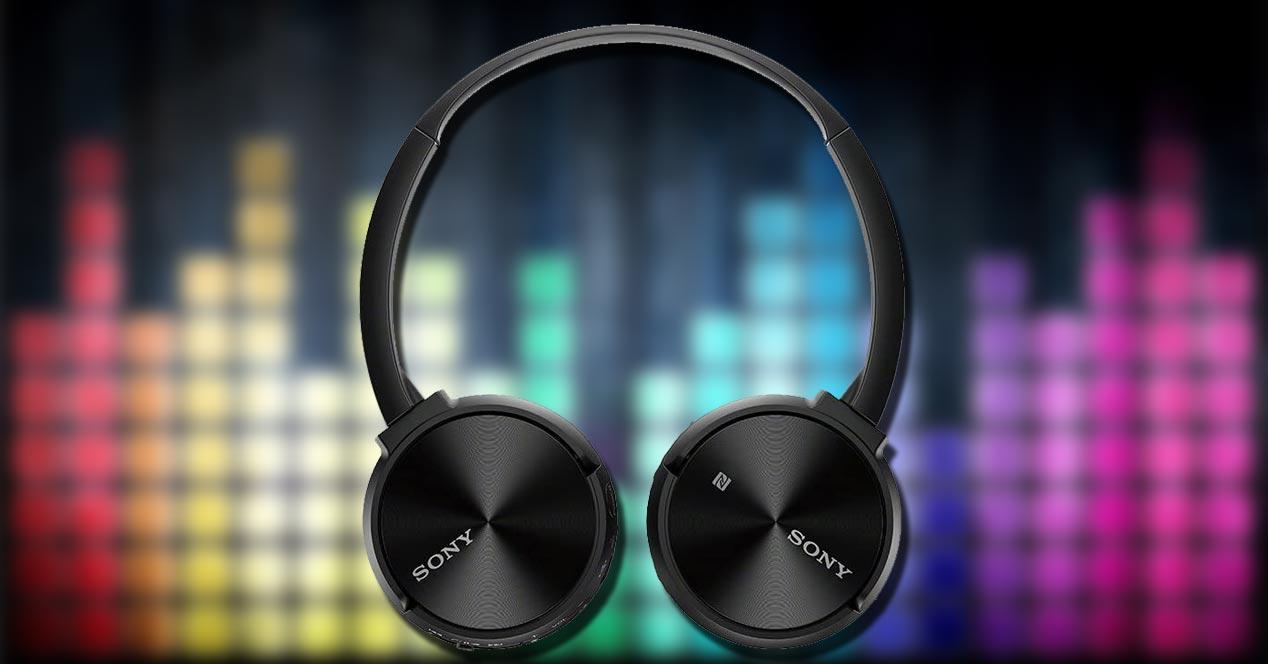 Auriculares Sony MDR-ZX330BT con fondo de música