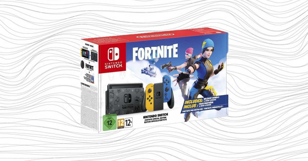 Nintendo Switch Fortnite Edition caja