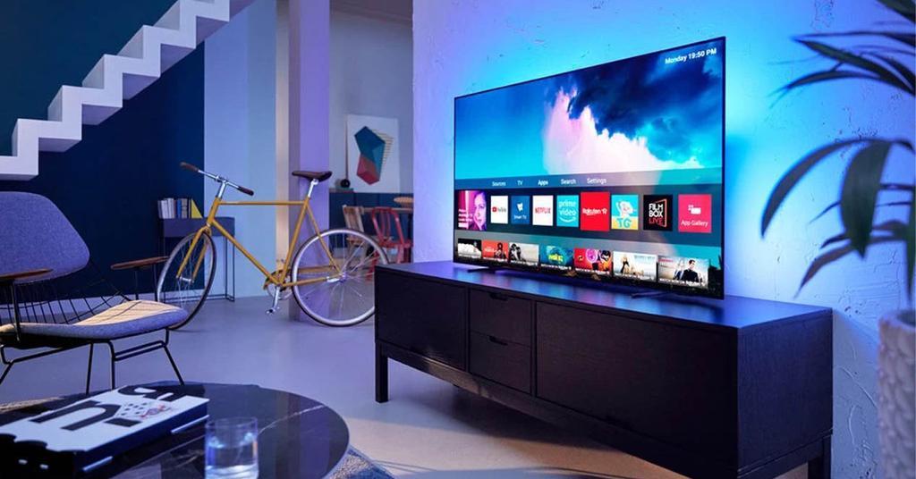 Smart TV OLED de lado