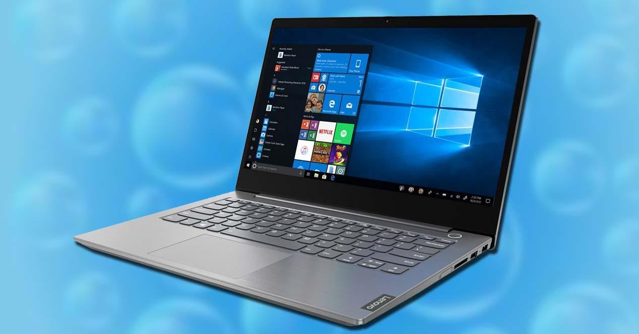 Portátil Lenovo ThinkBook 13s-IML con fondo