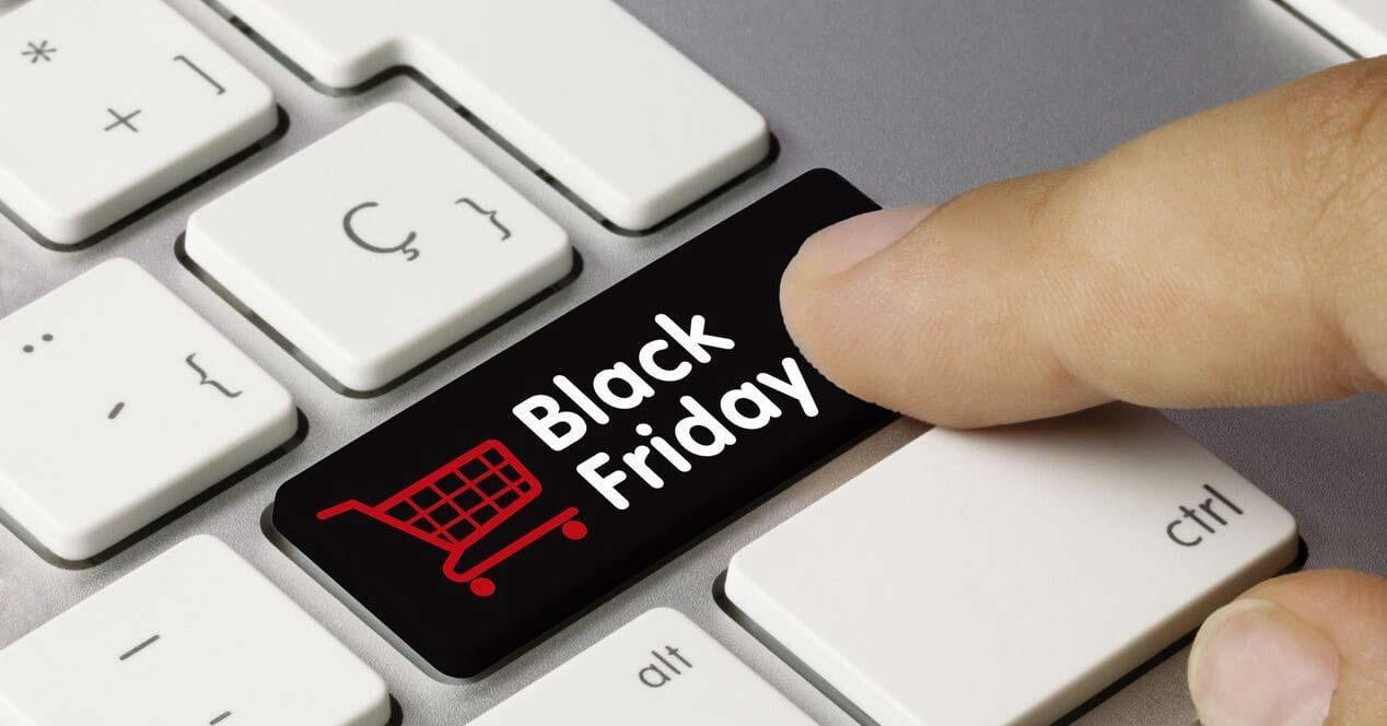 Botón del Black Friday
