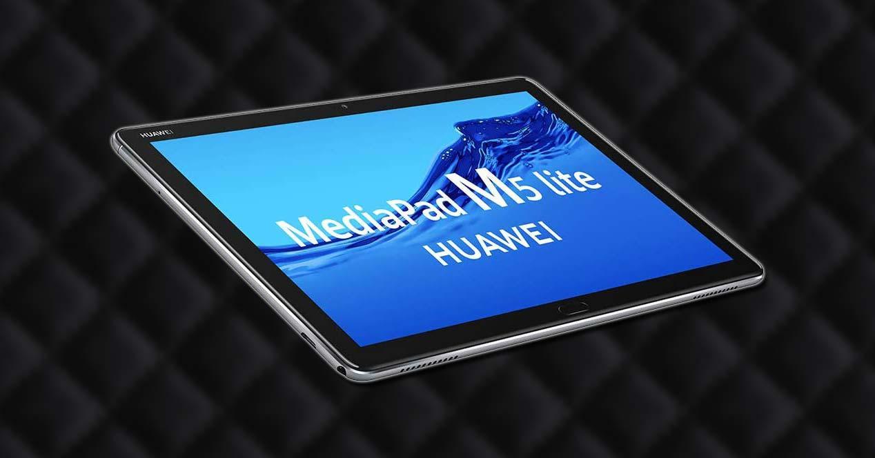 Tablet Huawei MediaPad M5 Lite con fondo
