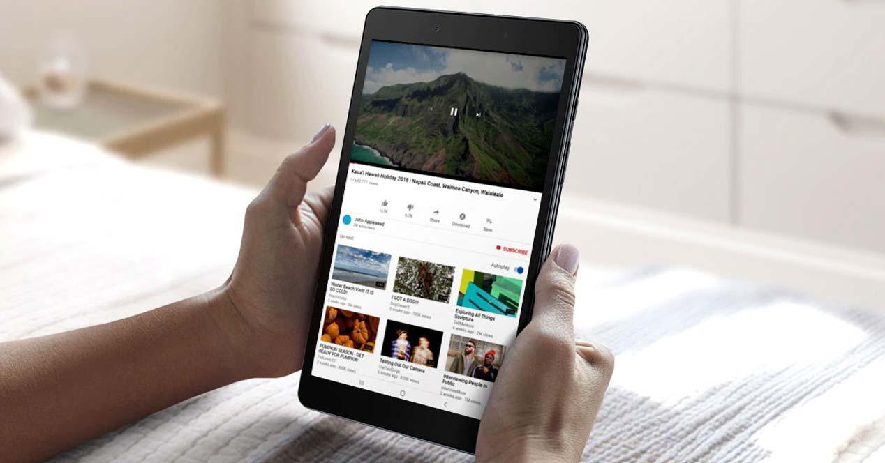 Uso del tablet Samsung Galaxy Tab A