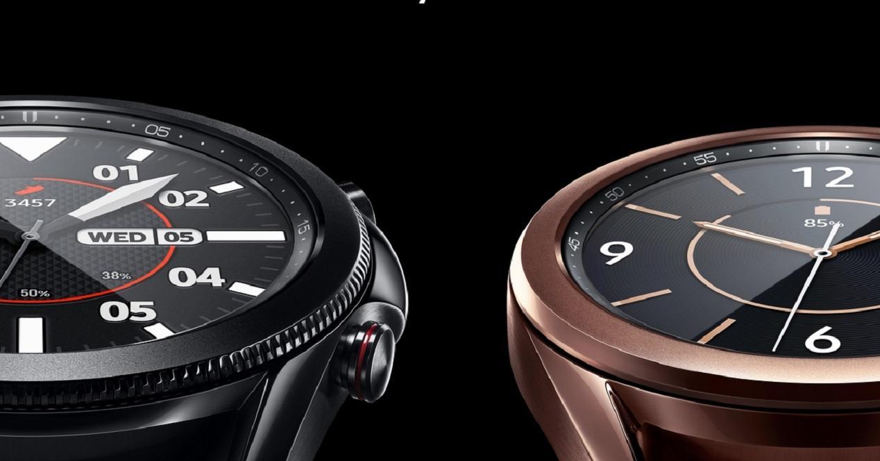 Samsung Galaxy Watch3 con fondo