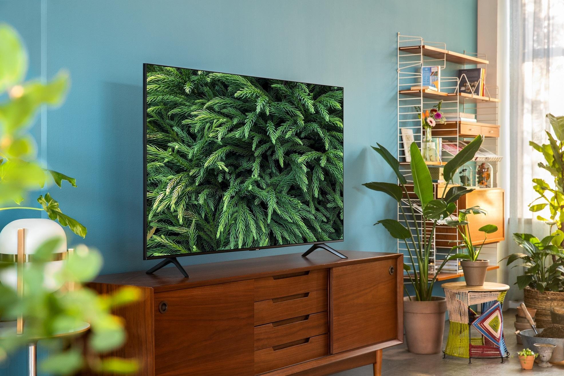 Smart TV Samsung UE75TU7092 de lado
