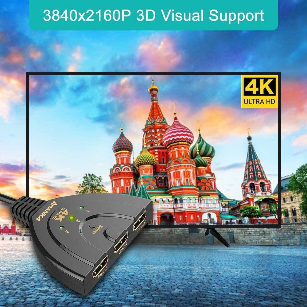 Conmutador HDMI AMANKA