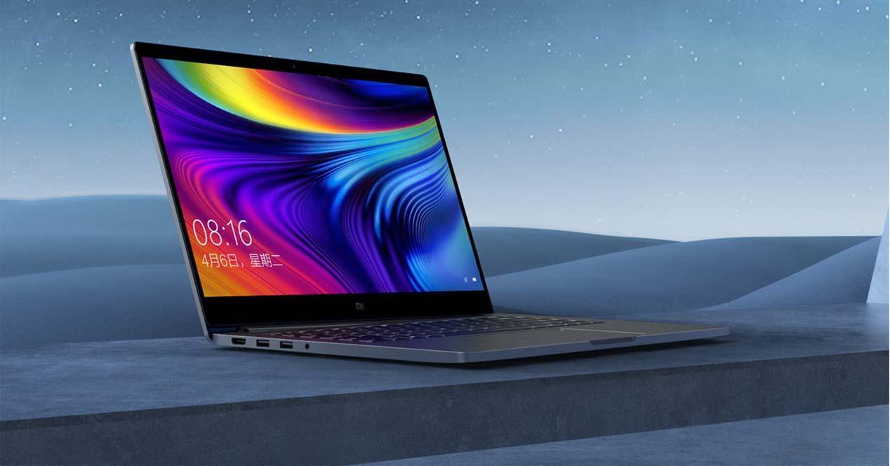 POrtátilXiaomi Mi Notebook Pro con fondo
