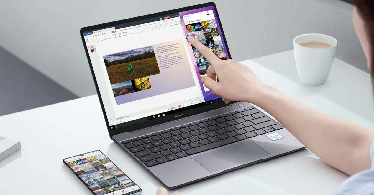 Uso del portátil Huawei MateBook X Pro